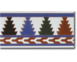 Azulejo árabe pintado a mano remate R510