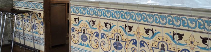 Zocalos, azulejos y cenefas rusticos, pintados a mano   azulejos ...