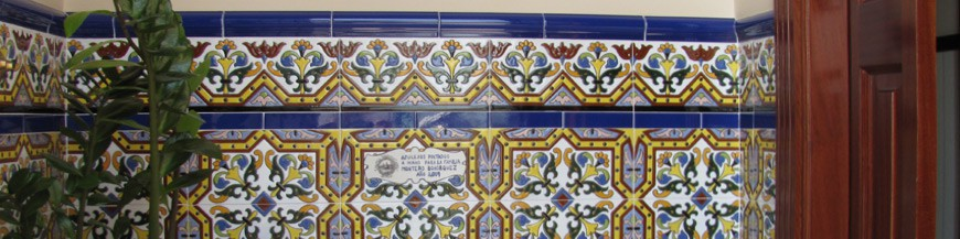 Sevillian wall tiles