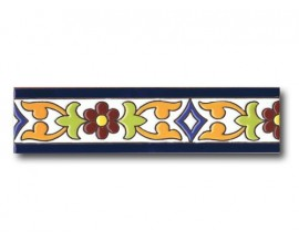 Cenefa cuerda seca 7 x 28 cm. CN37FB