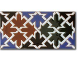 Azulejo árabe pintado a mano fondo F580