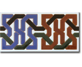Azulejo árabe pintado a mano cenefa P510