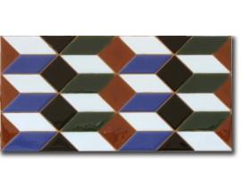 Azulejo árabe pintado a mano cenefa P540