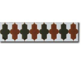Azulejo árabe pintado a mano cenefa C520