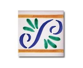 Azulejo pincelado cenefa SV2087